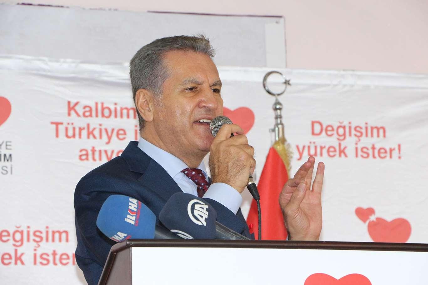 Değişim Partisi Genel Başkanı Sarıgül Mardin'de Halka Konuştu