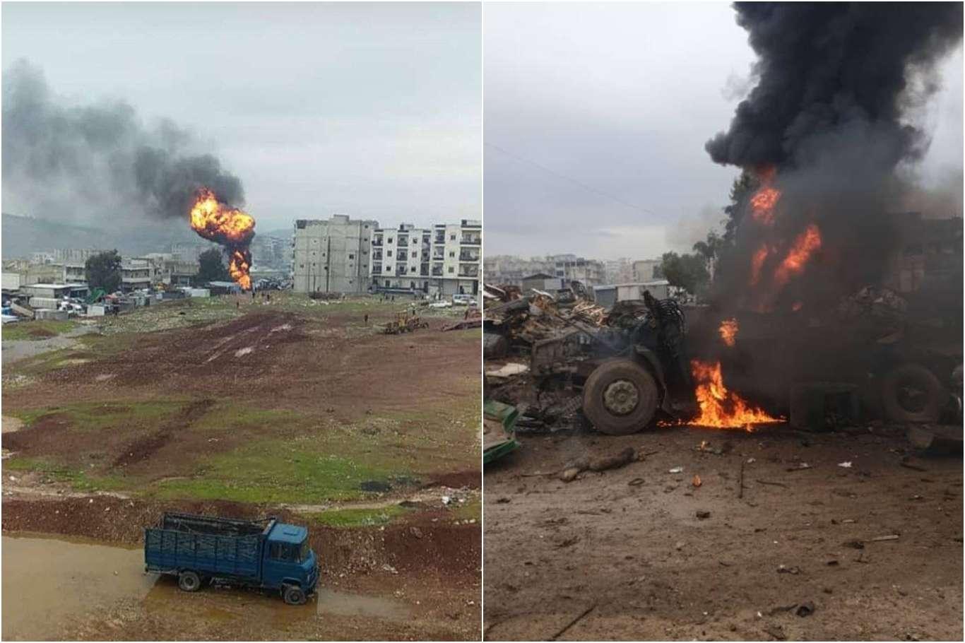 Pkk/ypg Afrin'de Sivillere Bombalı Saldırı Düzenledi: 5 Ölü 22 Yaralı