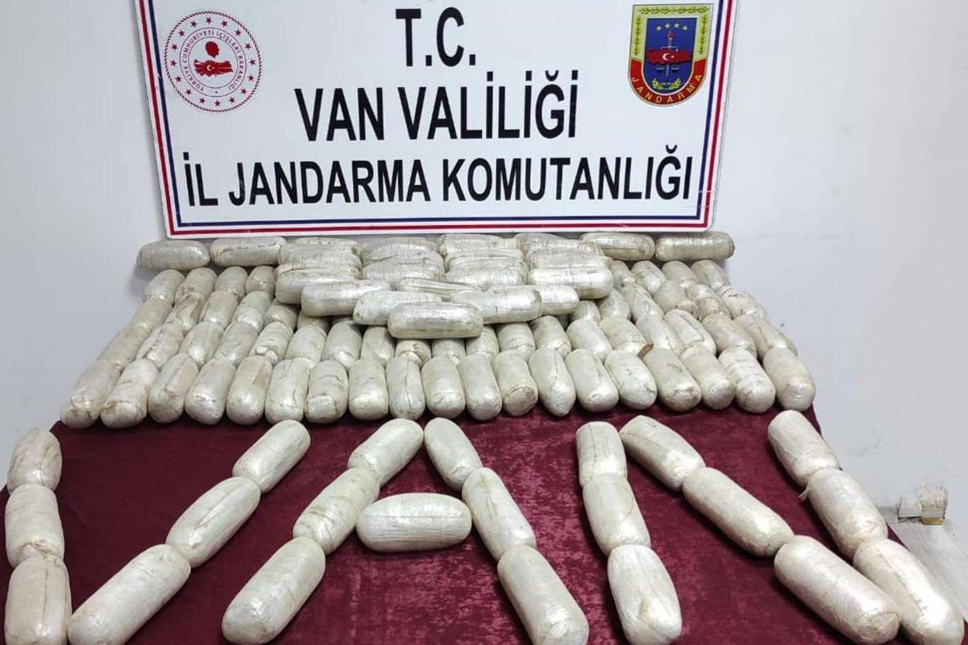 Yapılan Operasyonda Van'da 68 Kilogram Uyuşturucu Yakalandı