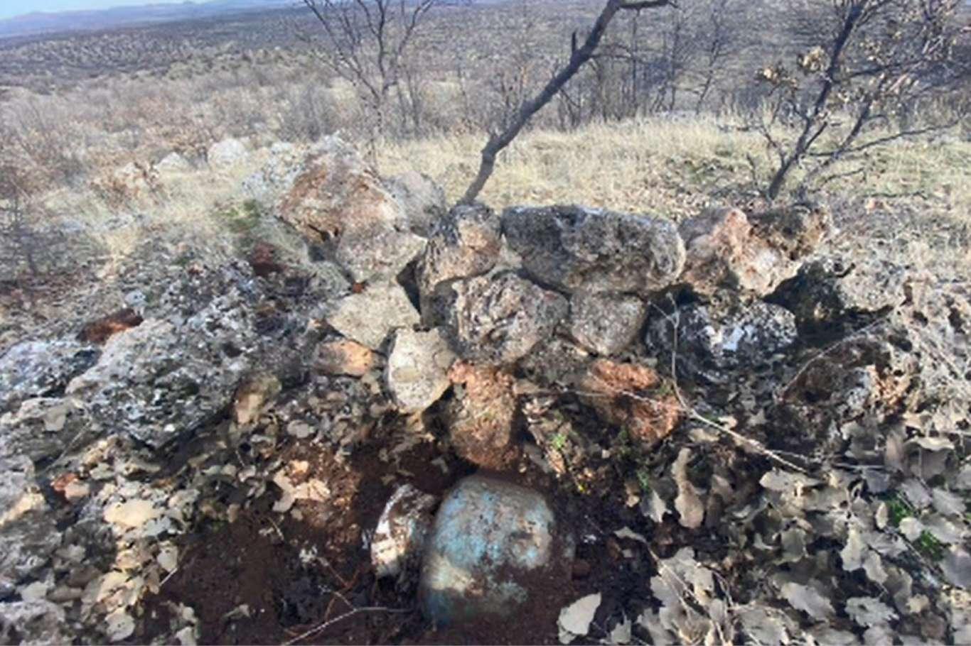 PKK'lı Teröristler Tarafından Mevziye Tuzaklanmış Patlayıcı İmha Edildi