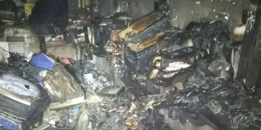 Sanayi Sitesindeki İş Yerinde Yangın Çıktı