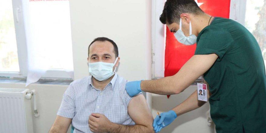 Şanlıurfa'da Coronavirus İkinci Doz Aşılama Çalışmaları Başladı