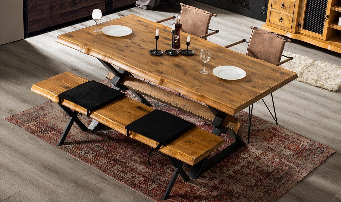 Ahşap Yemek Masası