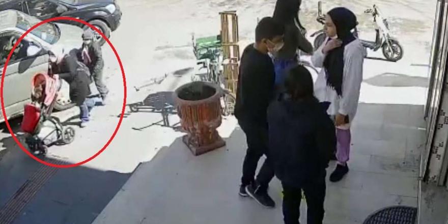 Yolda Yürüyen Kadının Cüzdanını Çalmaya Çalışan Çocuk Kameraya Takıldı