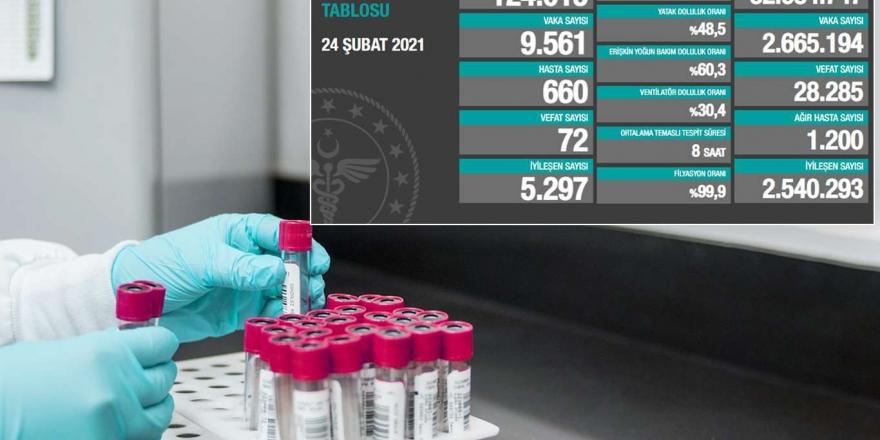 Türkiye'de Son 24 Saatte 9 Bin 561 Coronavirus Vakası Tespit Edildi