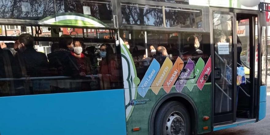 vaka Sayılarının Yüksek Olduğu Malatya'da Toplu Taşıma Araçları Tıka Basa Dolu