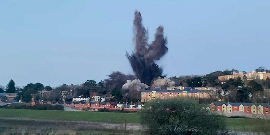 İngiltere'de İkinci Dünya Savaşında Kalma Bomba İmha Edildi