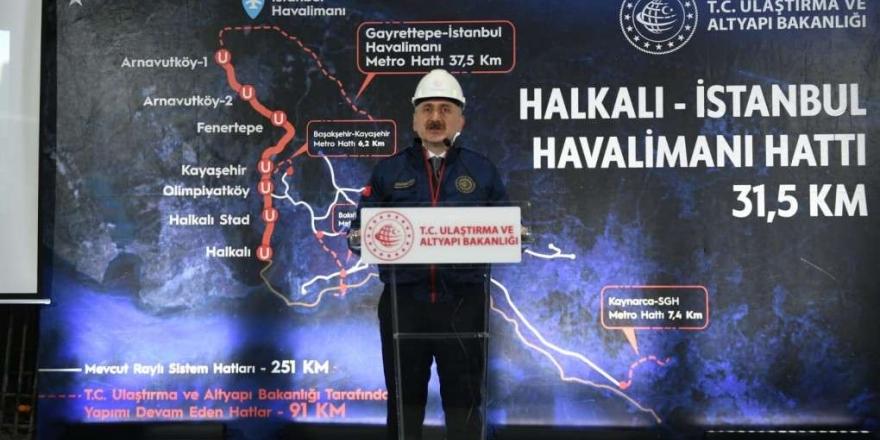 """Bakanı Karaismailoğlu: """"istanbul'a İki Raylı Sistem Hattı Daha Kazandırıyoruz"""""""