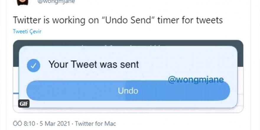"""Twitter, Paylaşımlarda """"geri Al"""" Seçeneğini Test Ediyor"""