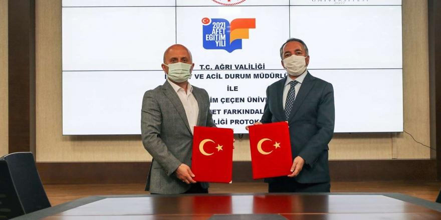 Aiçü İle Ağrı Valiliği Arasında 'iş Birliği Protokolü' İmzalandı