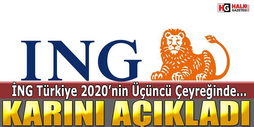 ING Türkiye 2020'nin Üçüncü Çeyreğindeki Kârını Açıkladı