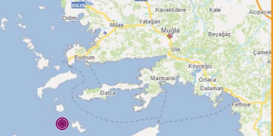 Muğla'nın Datça Açıklarında 4,8 Büyüklüğünde Deprem