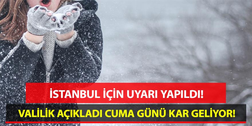 İstanbul Valiliğinden Müjdeli Haber: Cuma Günü İstanbul'a Kar Yağacak