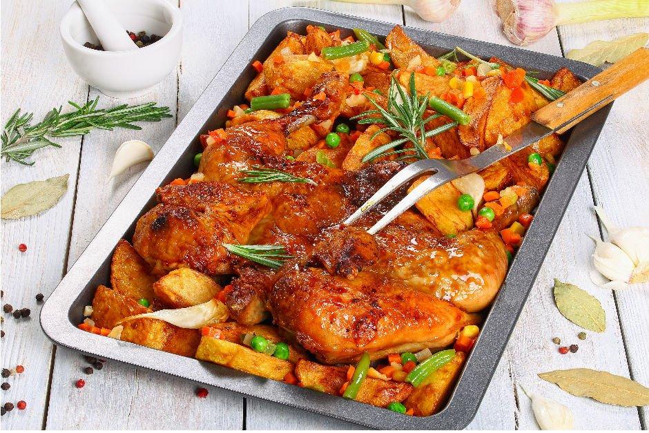 Fırında Sebzeli Tavuk Tarifi! Fırında Sebzeli Tavuk Nasıl Yapılır?