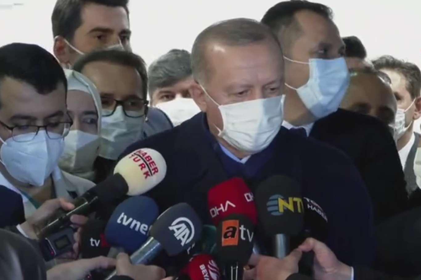 Başkan Erdoğan CoronaVac Aşısından Sonra İlk Açıklamasını Yaptı.