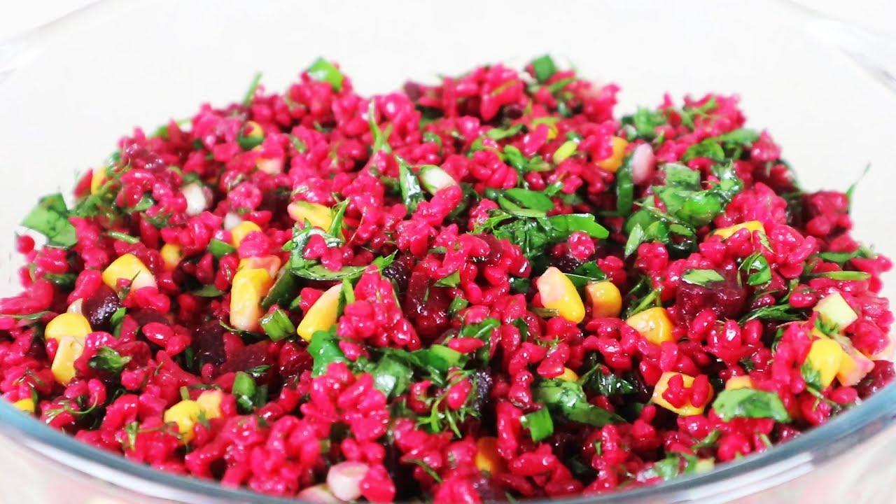 Kırmızı Bulgur Salatası Tarifi, Nefis Salata Tarifleri