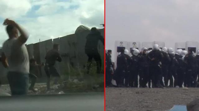 Kağıt Toplayıcıları ve Polis Karşı Karşıya Geldi, Ortalık Savaş Alanına Döndü